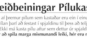 Píluleiðbeiningar og leikir